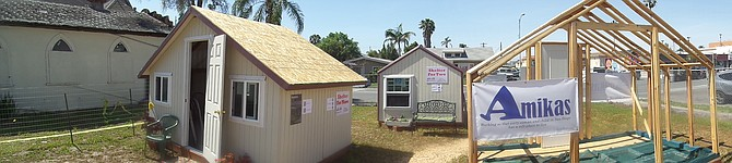 """Here Amikas.Org display the start to a """"Tiny Village"""" of camping cabins in North Park, near St.Lukes on 3700 block of 30th St. Imagine 6-9 units for 2-4 people ea. Temporary inside of homeless on street(s)."""