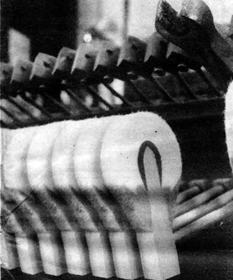 He makes holes in the hammers to loosen the felt and produce a richer, mellower sound.