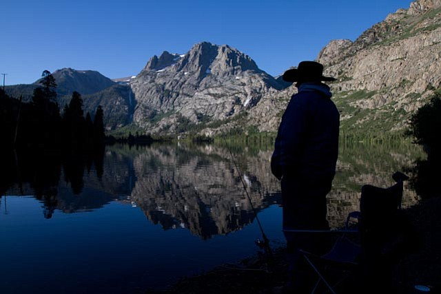 Silver Lake in the June Lake Loop, in the Eastern Sierra, where California greets the day.