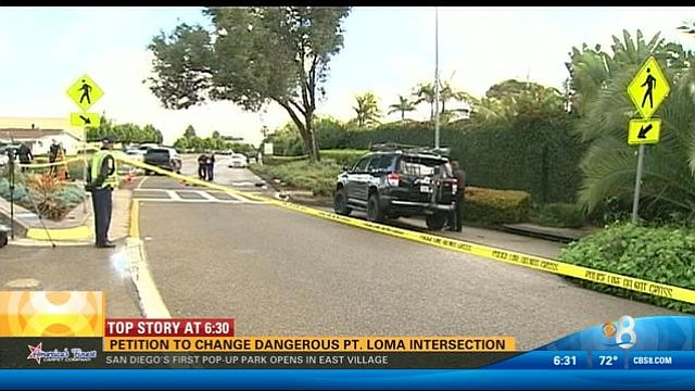 Catalina and Canon streets -the young girl's stroller was dragged for 68 feet until coming to a stop.
