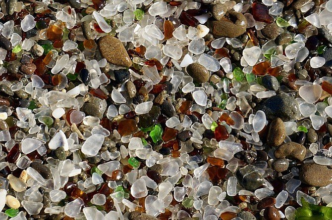 Glass Beach close-up.