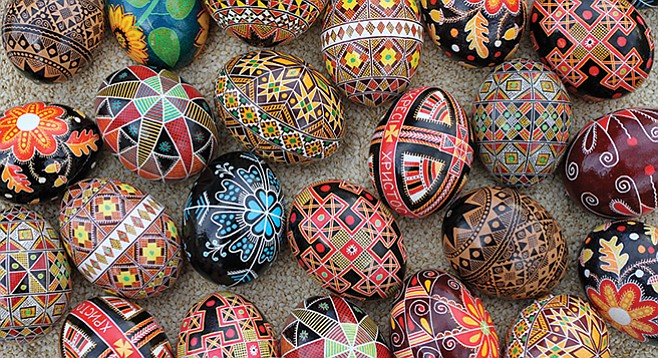 Maybe your artsy side wants to learn pysanky, traditional Ukrainian Easter egg decoration?