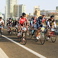 Cycling and food on San Diego's waterfront