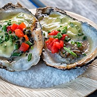 Lava Rock Grilled Pacific Oysters. (Is it weird that SeaWorld serves seafood?)