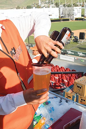 Tecate beers are sold throughout the ballpark for about $1.50. (It's $7.25 a beer at Petco.)