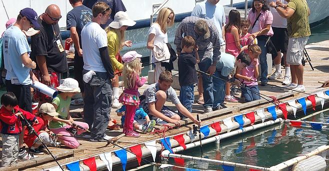 Kids fishing at 2015 Day at the Docks