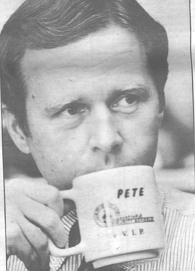 """Pete Wilson. """"He looks like the kind of man whose mother combs his hair."""""""