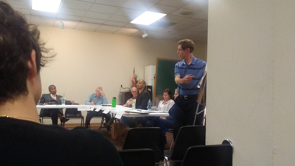 """Tom Mullaney at presentation: """"I want this decided at a public hearing."""""""