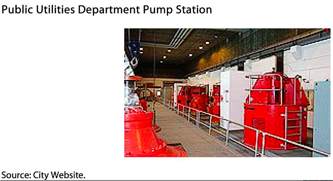 """SDG&E swapped out and moved the location of three meters at a sewer pump station."""
