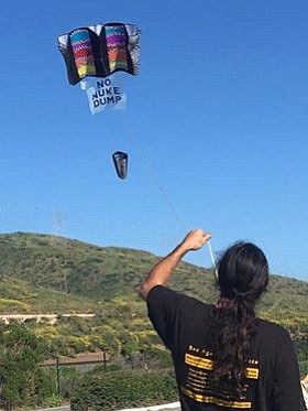 Citizens Oversight kite flown near site of nuclear waste dump
