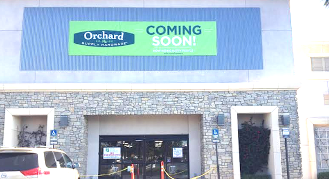 Orchard Supply Hardware in San Marcos. The county's first OSH opened in La Mesa in December of last year.