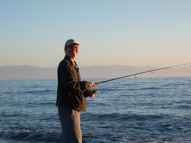 The author saltwater fishing