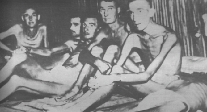 Finally, dysentery forced Allen into the POWs' hospital, weighing just 75 pounds.