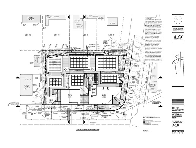 The site plan (hotel will include nine buildings with plazas)