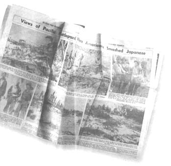 Account of Tarawa in Brume's hometown newspaper.