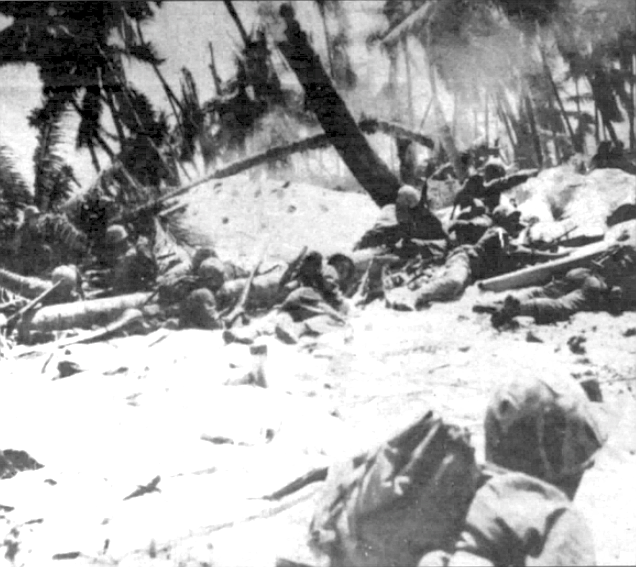 Didn't know what the hell I was doin'...what I was supposed to be doin'. During the whole siege of Tarawa, I don't know how many rounds I fired off.
