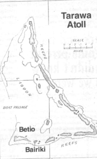 """They showed us Tarawa, but they never said """"Tarawa."""""""