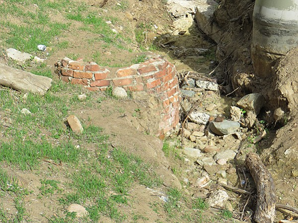 This brick structure used to be some type of cistern.