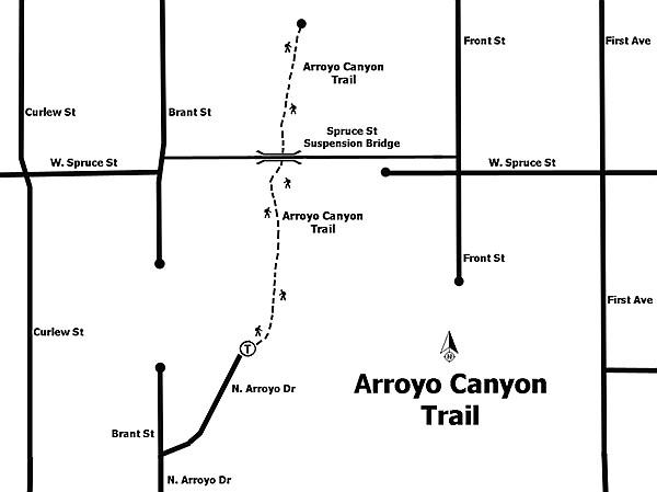 Arroyo Canyon map
