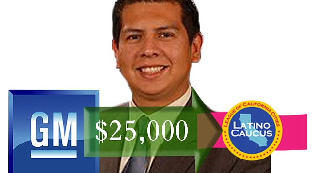 General Motors, known for spending money on lobbyists, behested $25K to a David Alvarez cause.