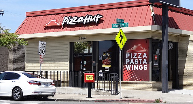 Pizza Hut in North Park currently has two stars on Yelp.