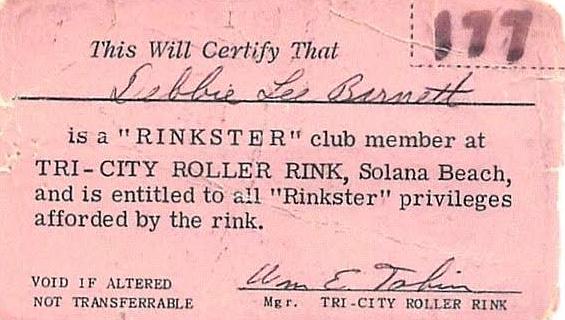 Now living in Salem, Oregon, Debbie Antonson recently found her Tri-City membership card.