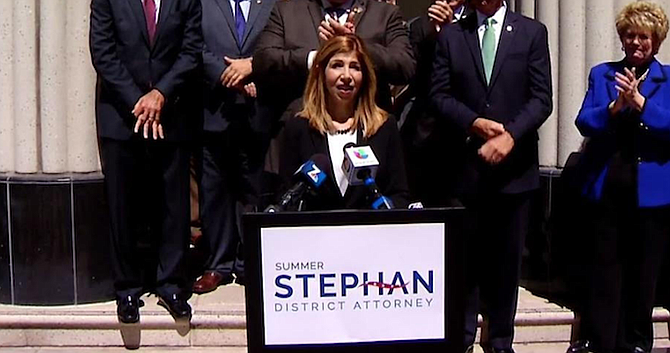 Summer Stephan. Departing D.A. Bonnie Dumanis has revealed that she would endorse the election of her chief deputy Stephan.
