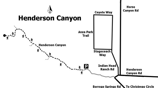 Henderson Canyon trail map