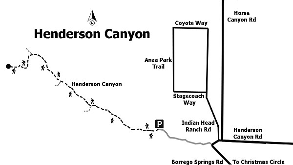 Henderson Canyon trail map