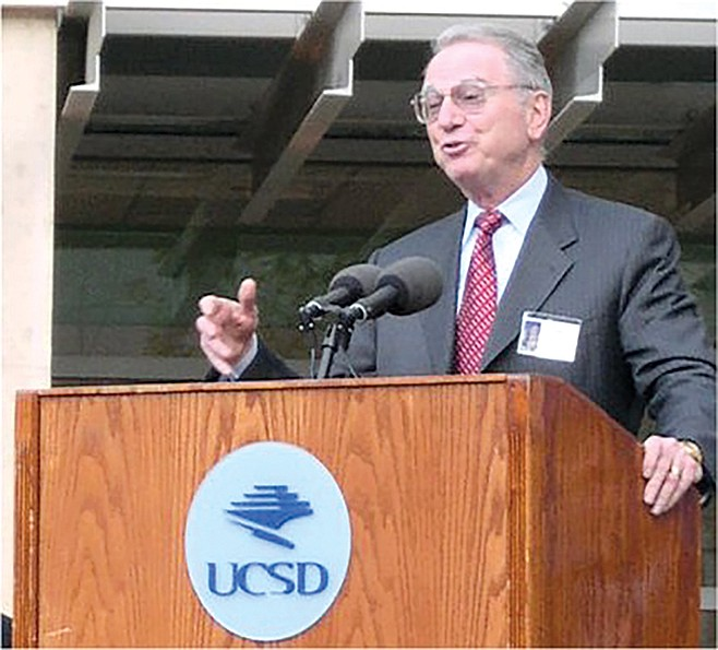 Irwin Jacobs, cofounder of Qualcomm, at dedication of Computer Science and Engineering building at UCSD.