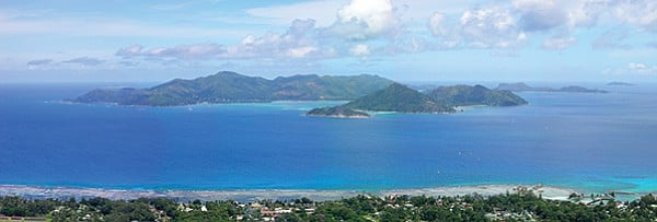 "View of the second largest island of the Seychelles, Praslin, ""a paradise for dirty money and corruption."""