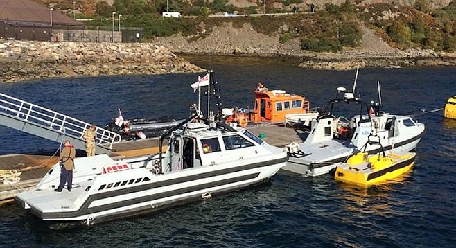 Semi-autonomous reconnaissance vehicles - for intelligence gathering and underwater mine detection