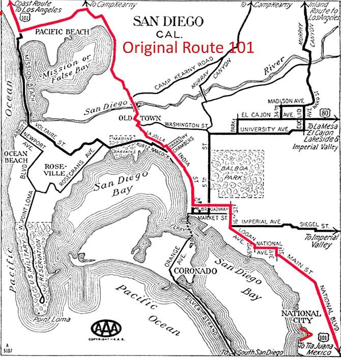 Original 101 route in 1926.