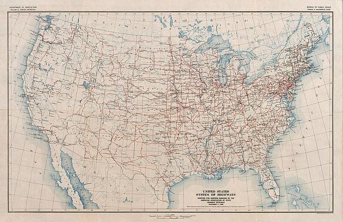 US highway system, 1926
