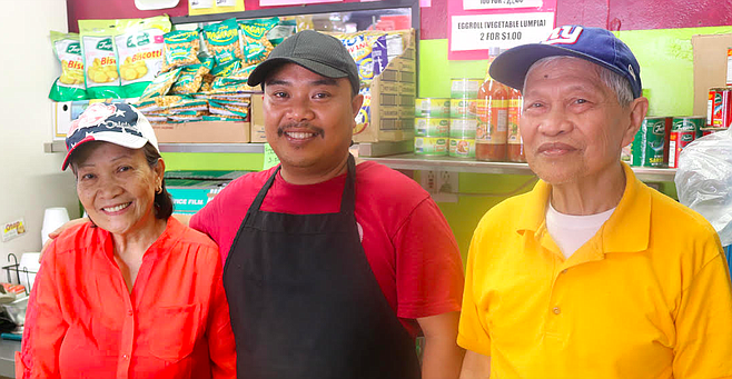 "Cely, Erick, Fred. ""Everyone thought that we were a donation drop-off spot."""