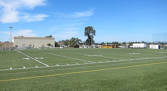 Horizon field. High Tech High doesn't have a football team, so the field will likely be redrawn for lacrosse and soccer.