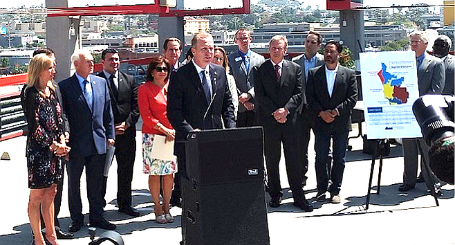 """Mayor Faulconer: """"Homeless individuals using their own personal tents is on the rise.... That's a problem that we cannot allow to continue."""""""