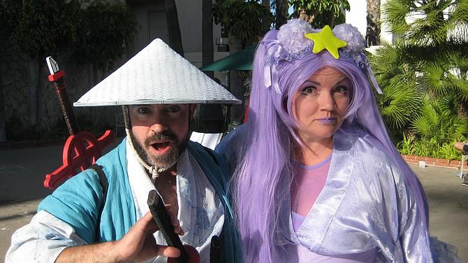 Derek Shackleton as Finn of Adventure Time and Faeren Adams as lumpy Harajuku Princess