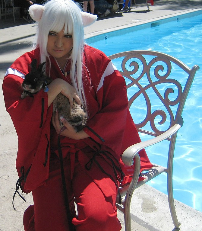 Inuyasha with a rabbit