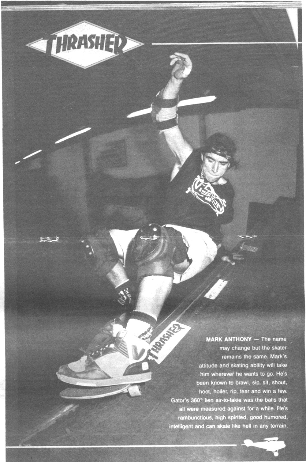 "The violent, anti-authority image of skateboarding— symbolized in Thrasher magazine's old motto ""Skate or Die"" —  was combined with the sex and bondage aspects of the murder."