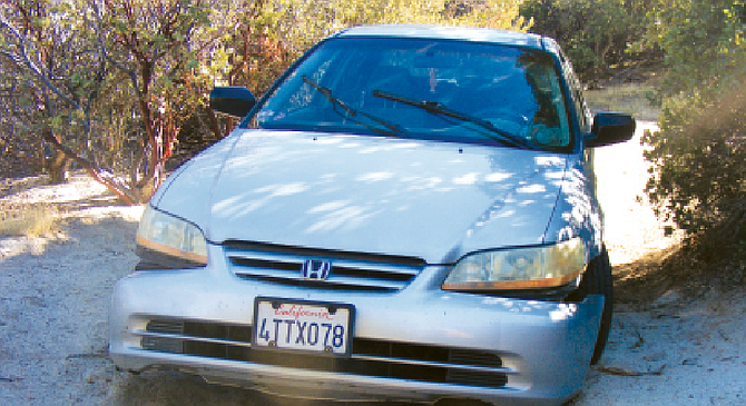 Leonard Duguay's car was found on a remote road near Warner Springs. Duguay was never found. - Image by H.G. Reza
