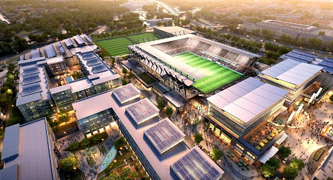 SoccerCity plan. Stone and his FS Investors group thus far has reported putting nearly $2.4 million into their ballot effort for the soccer stadium.