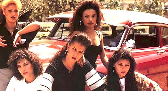 """From Chucas y Cholas flyer. """"They went against both cultures, by [dressing in] the pachuca look and then later the chola look."""""""