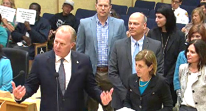 Faulconer and Bry. Councilmember Bry said last year was a record breaking year for visits to San Diego.