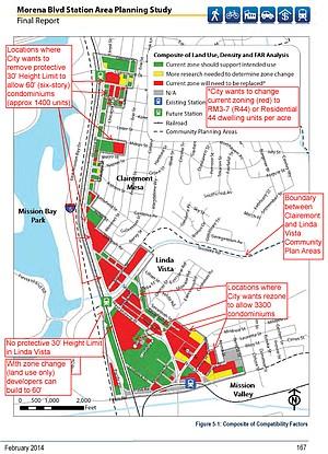 Full map of Transit Oriented Development area.
