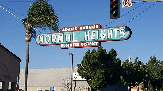 The infamous Normal Heights sign at the heart of the epicenter