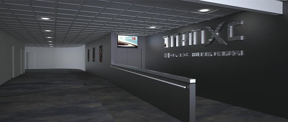 Artist's rendering of the revamped lobby space at Reading Cinemas Grossmont Center