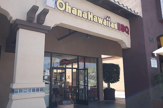 Get a lot of Hawaiian food for less than ten bucks in an Oceanside strip mall