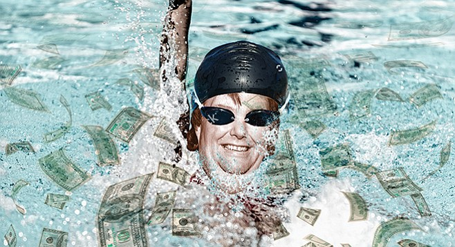 The cash pool left behind by David Copley grew by $20 million a few years ago.