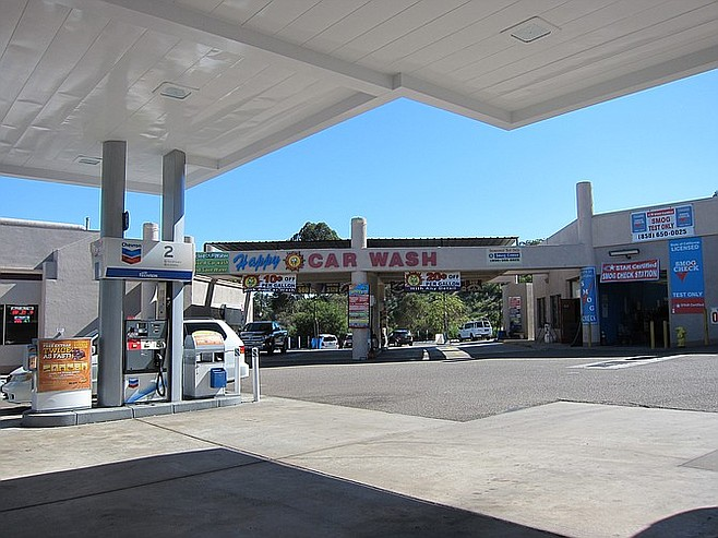 Chevron/Happy Car Wash, across the street, paid for a traffic study that contradicted the city's findings.